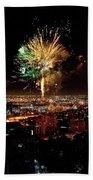 Dazzling Fireworks Iv Beach Towel