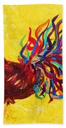De Colores Rooster Beach Towel