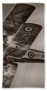 De Havilland Dh-82a Tiger Moth V5 Beach Towel