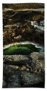 Dead Sea Sink Holes Beach Towel by Dan Yeger