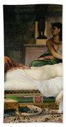 Death Of Cleopatra Beach Sheet