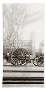 Death Valley Borax Mule Team Beach Towel
