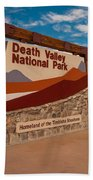Death Valley Entry Beach Towel