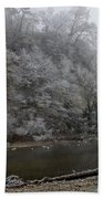 December Morning On The River Beach Towel