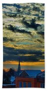 December Sunrise In Annapolis Beach Towel