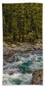 Dechutes River Rapids Bend Oregon Beach Towel
