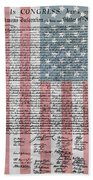 Declaration Of Independence Beach Towel by Dan Sproul