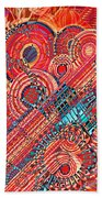 Deco Flower Swirls Beach Towel