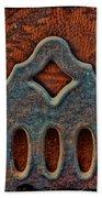 Deco Metal Red Beach Towel