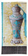 Decorative Bathroom Bath Art Original Perfume Bottle Painting Luxe Perfume By Madart Beach Towel