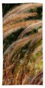 Decorative Grass Wind Autumn And Orton Beach Towel