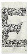 Decorative Letter Type E 1650 Beach Towel