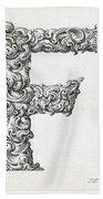 Decorative Letter Type F 1650 Beach Towel