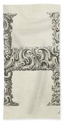 Decorative Letter Type H 1650 Beach Towel