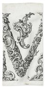 Decorative Letter Type V 1650 Beach Towel