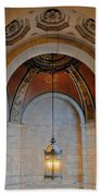 Decorative Light At The New York Public Library Beach Towel