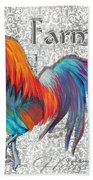 Decorative Rooster Chicken Decorative Art Original Painting King Of The Roost By Megan Duncanson Beach Towel