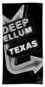 Deep Ellum Black And White Beach Towel
