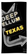 Deep Ellum In Yellow Beach Towel
