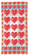 Deeply In Love Cherryhill Flower Petal Based Sweet Heart Pattern Colormania Graphics Beach Towel