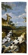 Deer Hunting Beach Towel