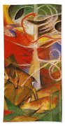 Deer In The Forest 1913 Beach Towel