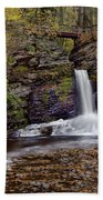 Deer Leap Falls Beach Towel