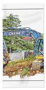 Deere For Hire2 - Excavator - Digger Beach Towel