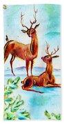 Deers Break Beach Towel