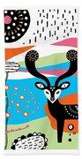 Deery Me Beach Towel by Susan Claire