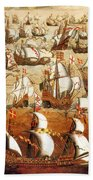 Defeat Of The Spanish Armada 1588 Beach Towel