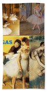 Degas Collage Beach Towel by Philip Ralley