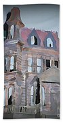 Delapitated Victorian Mansion Beach Towel