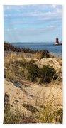 Delaware Breakwater East End Light Beach Towel