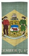 Delaware State Flag Beach Towel by Pixel Chimp