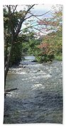 Delhi Rapids From The Bridge Beach Towel