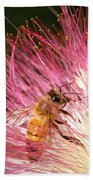 Delicate Embrace - Bee And Mimosa Beach Towel