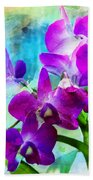 Delicate Orchids Beach Towel
