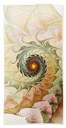 Delicate Wave Beach Towel by Anastasiya Malakhova