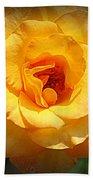 Delicate Yellow Rose Beach Towel