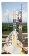 Delta II Launch With Space Telescope Beach Towel