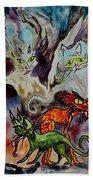 Demon Cats Haunted Beach Towel