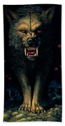 Demon Wolf Beach Towel