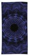 Denim Blues Mandala - Digital Painting Effect Beach Towel