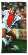 Dennis Bergkamp 2 Beach Towel by Paul Meijering