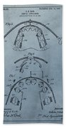 Dental Braces Patent Design Beach Towel