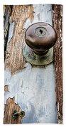 Dented Doorknob Beach Towel by Caitlyn  Grasso