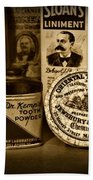 Dentist  -  Tooth Powder And More In Black And White Beach Towel