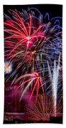 Denver Fireworks Finale Beach Towel