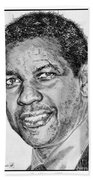 Denzel Washington In 2009 Beach Towel by J McCombie